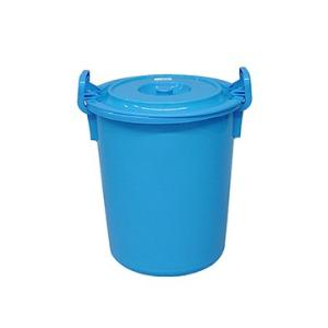 yazaki (ヤザキ) 生活 用品 万能桶 蓋付き L-55 B 外寸:Φ45×54cm tairaml