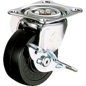 ハンマー キャスター 車輪 415G-R 50mm 平付プレート 自在車 (ゴム車輪)|tairaml