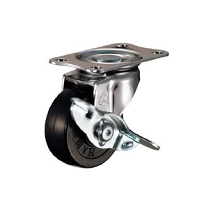 ハンマー キャスター 車輪 415E-R 50mm 平付プレート 旋回式 (ゴム一体車輪 [樹脂ブッシュ入])|tairaml