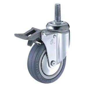 ハンマー キャスター 車輪 915MA-RB 100mm ねじ込み 旋回式 ナイロン ホイール ゴム巻車輪 ラジアル ボールベアリング入|tairaml