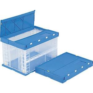 折りたたみコンテナ:サンコー(三甲):透明サンクレット P75B-2:551980|tairaml