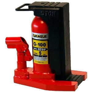 今野製作所 イーグル 爪つき 油圧 ジャッキ G-100 レバー回転 安全弁付|tairaml