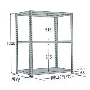 棚・ラック:扶桑金属軽量ラック:オープン型グレーW1500×D450×H1200:3段:LO1215M03 tairaml