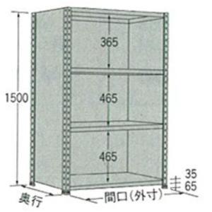 棚・ラック:扶桑金属軽量ラック:パネル型グレーW875×D450×H1800:4段:LP1809M04 tairaml