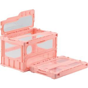 サカエ 色付き 透明 折りたたみ コンテナ ボックス CL-50TM フタ一体型 簡易包装 バラ1個売り|tairaml