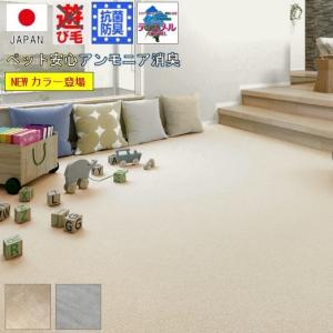 カーペット 6畳 絨毯 じゅうたん アンモニア 消臭 江戸間6帖カーペット ペットくん
