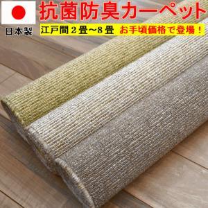 カーペット 2畳 絨毯 じゅうたん 安い 江戸間2帖カーペット ラフィーレ