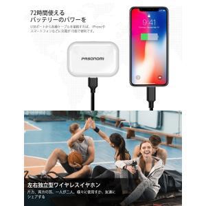 Bluetooth5.0進化版 IPX7完全防水 Bluetooth イヤホン 完全 ワイヤレス イヤホン Pasonomi ブルートゥース|taisei-sunflower