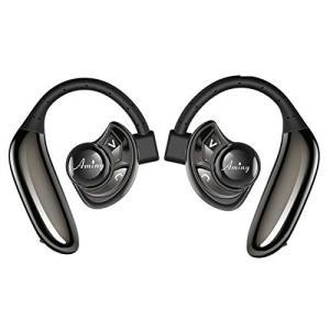 Bluetooth イヤホン 高音質 耳掛け式 ワイヤレスヘッドセット 片耳 両耳とも対応 ブルートゥース スポーツ イヤホン マイク内蔵|taisei-sunflower