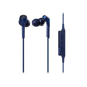 オーディオテクニカ Bluetooth対応 ダイナミック密閉型カナルイヤホン(ブルー)audio-technica SOLID BASS A|taisei-sunflower