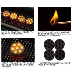 ロゴス(LOGOS) 着火剤 固形燃料 エコココロゴス・ミニラウンドストーブ4 ecoなヤシガラ炭|taisei-sunflower