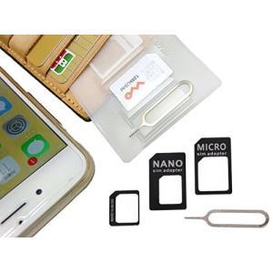 紛失防止 クレカより薄い SIM カード ケース ホルダー 日本製 スキマに入る 変換 アダプタ イ...