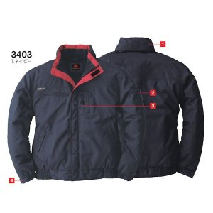 防寒着 防寒ブルゾン 3403(全3色)3L  桑和|taiseisenkou