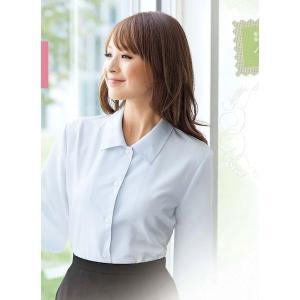 事務服 長袖ブラウス ベーシック系 01040(白・ピンク) 5号〜15号 en joie(アンジョア)|taiseisenkou