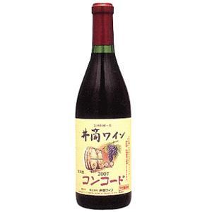 ワイン 井筒ワイン 無添加 コンコード 赤 甘口 720ml 長野県 塩尻市|taiseiya
