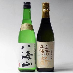日本酒 八海山・鶴齢 純米大吟醸 720ml×2本セット 新潟県 南魚沼市|taiseiya