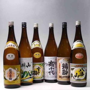 日本酒 越乃寒梅 麒麟山 雪中梅 高千代 鶴齢 八海山 1800ml×6本|taiseiya