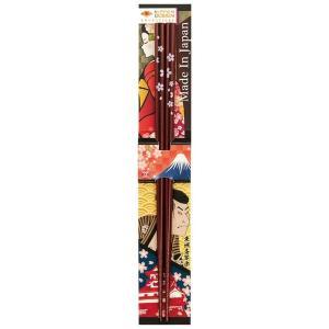 田中箸店 日本デザイン箸 夜光桜 春慶 22.5? 068084