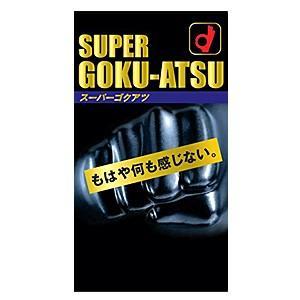 厚さ1.2mm! 極厚スキン SUPER GOKU-ATSU(スーパーゴクアツ)10個入り コンドーム オカモト|taisyou