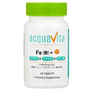 Fe(鉄)+ビタミン・ミネラル・アミノ酸 30粒 アクアヴィータ|taisyou