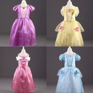 ラプンツェル ベル シンデレラ オーロラ 風 ドレス コスプレ 子供  キッズ プリンセス