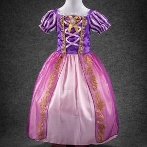 塔の上のラプンツェル 風 ドレス 子供 コスプレ 衣装 仮装