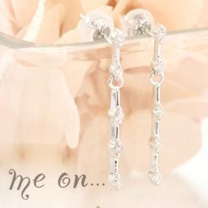 【me on...】まっすぐに流れるダイヤの輝き☆K14ゴールドの上品なゆらめきが豪華な10個のダイヤモンドピアス|taiyodo