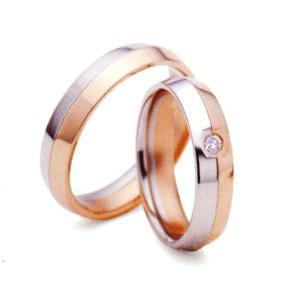 ランバン LANVIN LA VIE EN BLEU 結婚指輪・ペア(マリッジ)リング 5924041(Men) PT900/K18PG 内側にブルーサファイヤ入り(画像左) |taiyodo