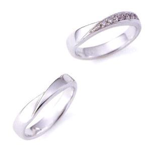 ニナリッチ 結婚指輪 ペア マリッジリング6RB910(Lady) PT900ダイヤ入り(画像右)  taiyodo