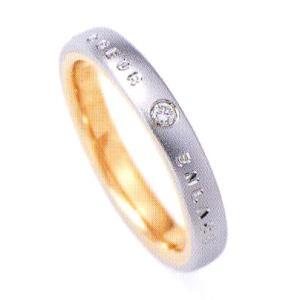 ニナリッチ 結婚指輪 ペア マリッジリング6RM902(Lady) PT900 K18 ダイヤモンド入り taiyodo