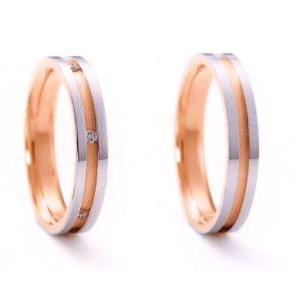 ニナリッチ 結婚指輪 ペア マリッジリング エテルニテ6RM905(Lady) PT900 K18PG ダイヤモンド(画像左) taiyodo