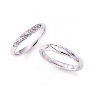 ニナリッチ 結婚指輪 ペア マリッジリング6RB067(Lady) PT900 ダイヤモンド入り(画像左) taiyodo