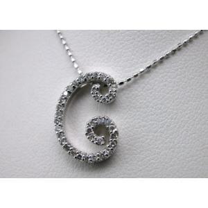 イニシャル「C」K18WGダイヤモンドペンダントネックレス taiyodo