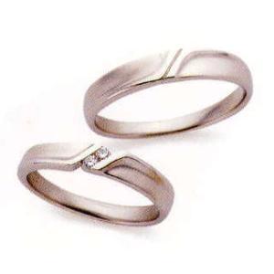 ランバン LANVIN LA VIE EN BLEU 結婚指輪 ペア マリッジリング5924035(Men) PT900 内側にブルーサファイヤ入り(画像上)|taiyodo