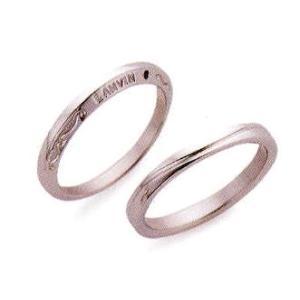 ランバン(LANVIN) LA VIE EN BLEU 結婚指輪・ペア(マリッジ)リング5924031(Men、Lady共通) PT900 ラトー装飾柄、ブルーサファイヤ入り(画像左側)|taiyodo