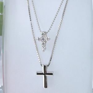 Cross for NewYork クロスフォーニューヨーク N Double Cross ペンダントネックレス NPN73|taiyodo