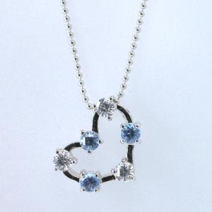 Cross for NewYork クロスフォーニューヨーク Star Heart Blue ペンダントネックレス NPN108|taiyodo