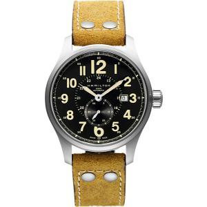 HAMILTON ハミルトン 腕時計 カーキ オフィサーオート 自動巻き ブラウンヌバックストラップ...