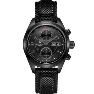 HAMILTON ハミルトン 腕時計 Khaki Field Auto Chrono カーキ フィールド オートクロノ ブラックPVD H71626735 国内正規品|taiyodo