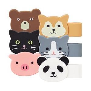 リヒトラブ マグネットクリップ Puni Labo プニラボ 磁石のついたクリップ シリコン素材の動物シリーズ 文房具 ポーチ|taiyotomah