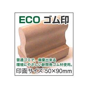 漢字・ひらがな・ローマ字OK! ECO ゴム印(オリジナル) 印面サイズ:50×90mm|taiyotomah
