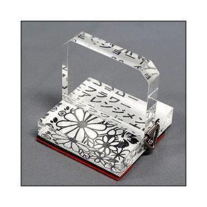 アクリル透明台使用の記念スタンプ 印面サイズ50×50mm スタンプラリーに最適|taiyotomah