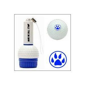 ゴルフボール名入れスタンプ/マーキングボールスタンプ(動物の足跡)/印面の大きさ10mm丸|taiyotomah