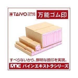 ゴム印/万能ゴム印(パインエキストラスタンプ)/印面サイズ:20×65mm|taiyotomah