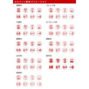 リールコード付き 認印 セルフィン10 印面:10mm (丸枠付)|taiyotomah|02
