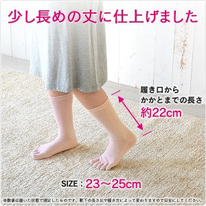 【全20色から選べる5色組】 レディース 綿100 5本指 靴下 シルケット加工 重ね履き むれ 冷え 対策 23〜25cm 320-5P|taiyounitto|07