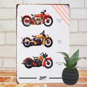ブリキ看板 1000種類 インディアンバイク aka ポスター|taiyozakka
