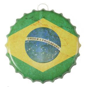ブリキ看板 ブラジル国旗 ポスター 南米 雑貨 グッズ インテリア bc35e|taiyozakka