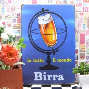 ブリキ看板 1000種類 ビール Birra ポスター|taiyozakka