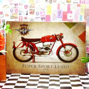 ブリキ看板 1000種類 LUSSO 赤 ポスター|taiyozakka